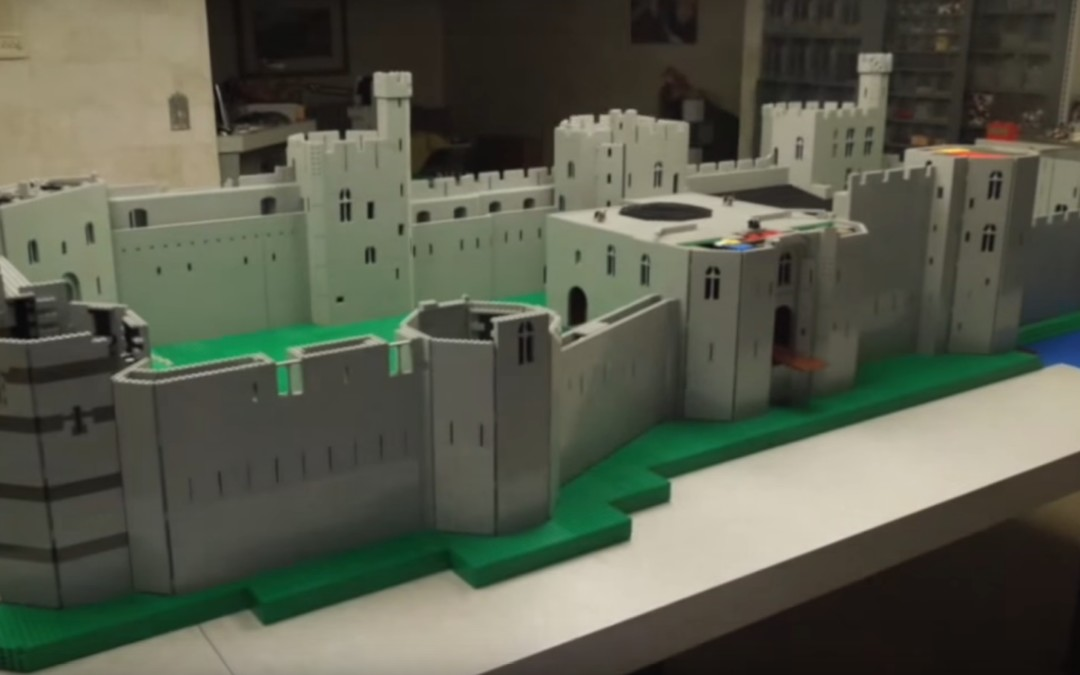 Caernarfon Castle Built out of Lego by American Hobbyist