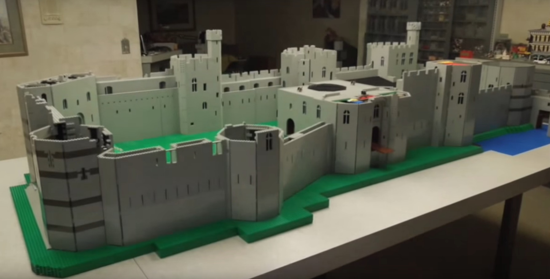Caernarfon Castle Built out of Lego by American Hobbyist
